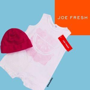 NWT Joe Fresh Baby Pink Watermelon 🍉 Romper